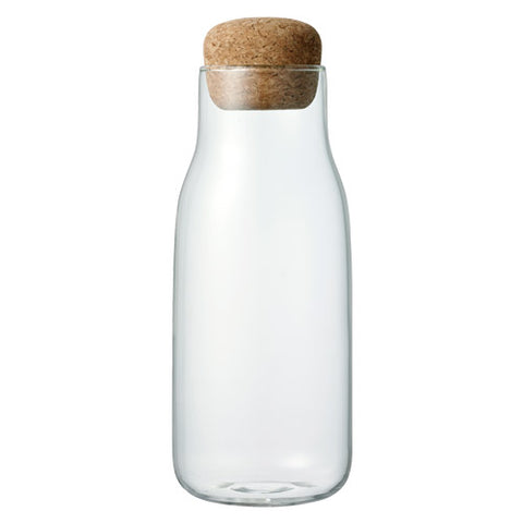 "Large Glass Canister with a Cork Lid ""Bottlit"""