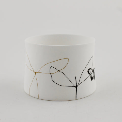 "Votive Candle Holder, ""Leaf"""