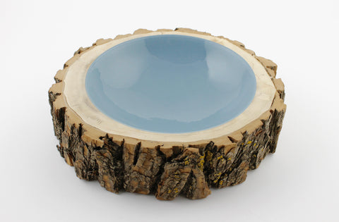 Wide Log Bowl Duck Egg Blue