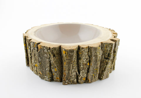Irregularly Shaped Log Bowl Warm Sand