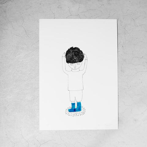 "Print ""Blue Shoes"""