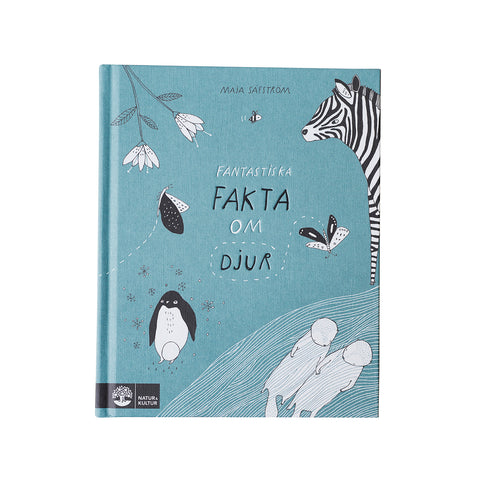 "An Illustrated Book in Swedish ""Fantastiska Fakta om Djur"""