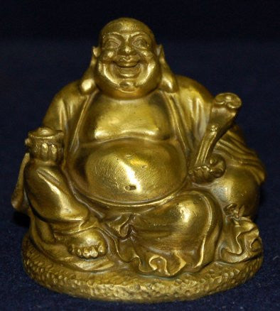 Small Bronze Laughing Buddha
