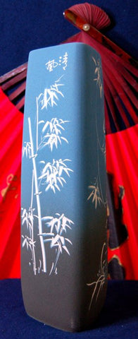 FSusion Tall Blue Porcelain Bamboo Vase