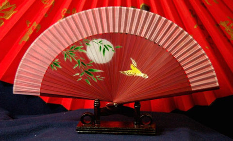 Exquisite Purple Bamboo Hand Fan