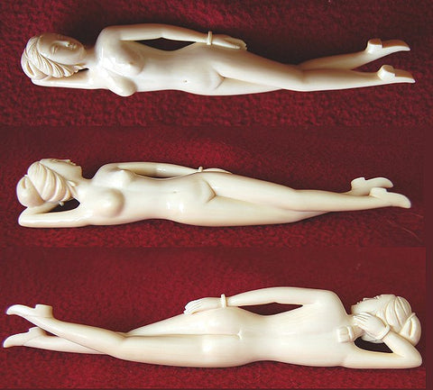 Mammoth Ivory Reclining Woman