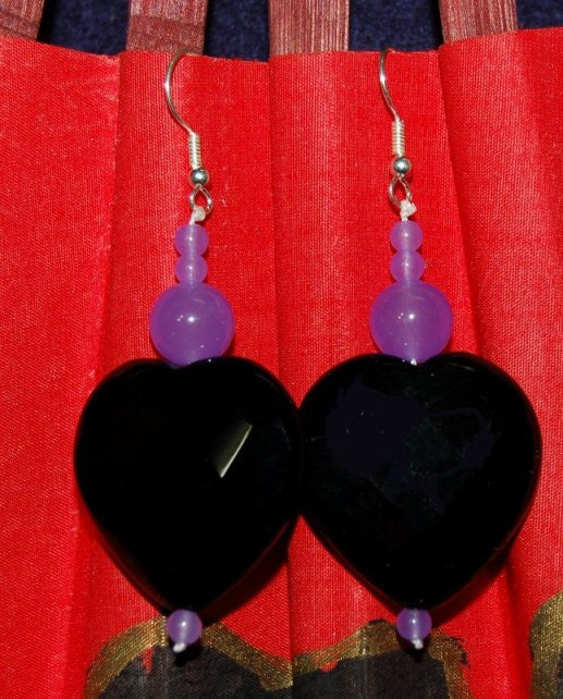 Beautiful Midnight Blue Faceted Stones Earrings