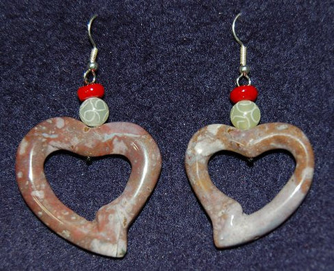 Stone Hearts Earrings in Contemporary Design