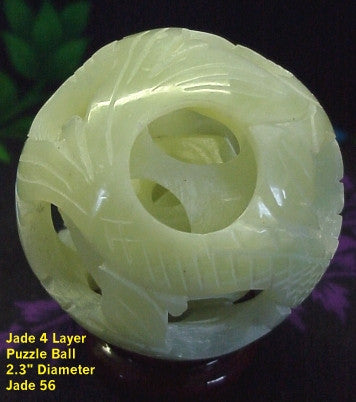 Jade 4  & 5 Layer Puzzle Balls - Beautiful Light Green Jade