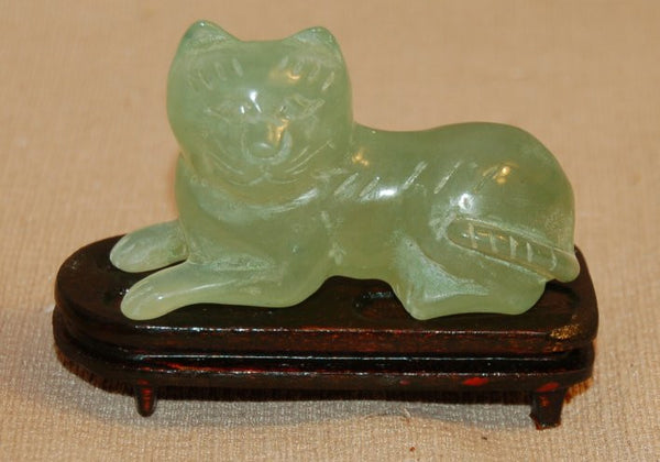Jade Cat Laying Down - 2 sizes