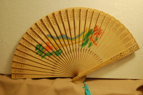 Delicate Looking Chinese Wood Fan