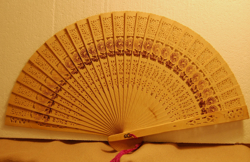 Carved Bamboo Fan