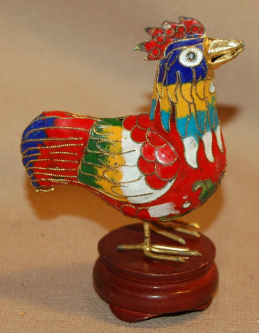 Cloisonne Rooster