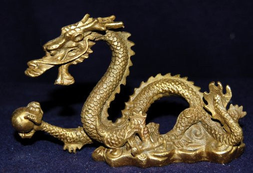 Small Bronze Dragon Sculpture
