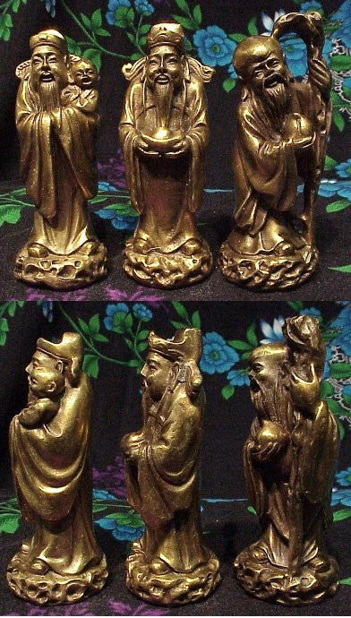 "Bronze Set of 3 Statues of the Wisemen 4"" tall"