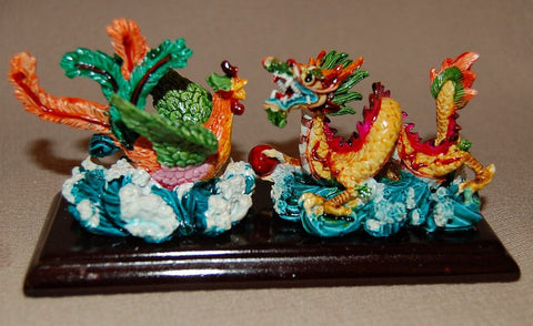 Resin Dragon Fighting Rooster