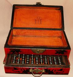 Wood Jewelry box Abacus with drawer