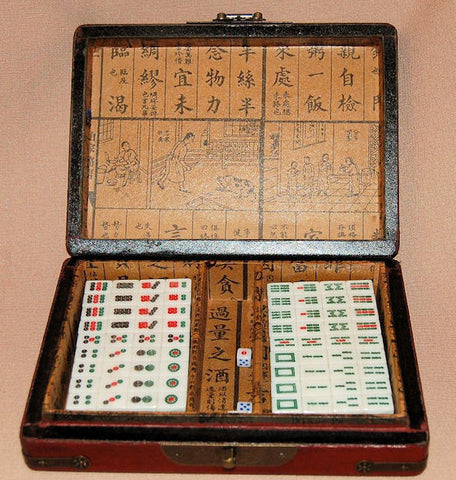 Wood Chinese Dominos (Mahjong)
