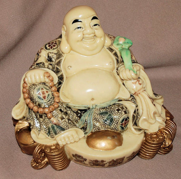 Resin Sitting Buddha with Ingot