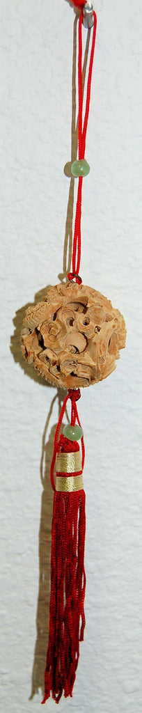 3 Layer wood Puzzle Ball w/string