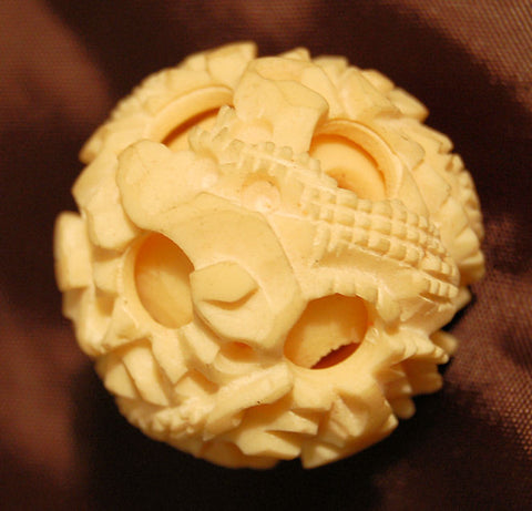 4 Layer HK Ivory Puzzle Ball