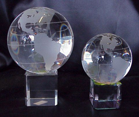 Feng Shui Crystal World Globe - 4 sizes available