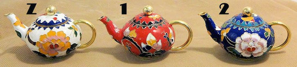 Cloisonne Mini Tea Pots Many Styles and Colors