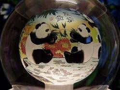 Crystal Globes with Beautiful Scenes of Chinese Pandas