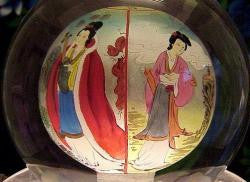 Crystal Globes with Beautiful Princesses Painted Inside