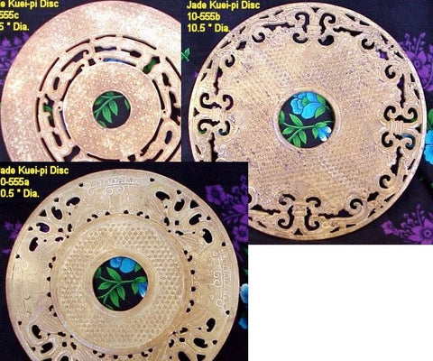 "Larger Jade Kuei-pi Disk over 10"" in diameter"