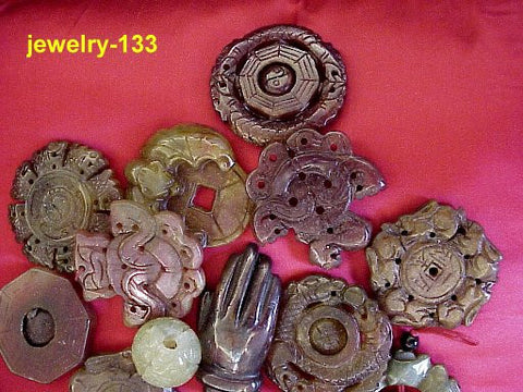 Set of 8 Assorted Styles of Jewelry Animal Carvings and More