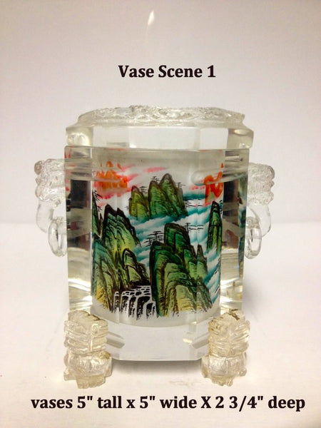 Inside Hand Painted Crystal Vases