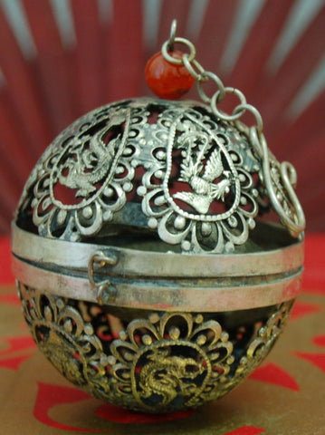 Unique and Beautiful Pewter Globe Incense Burner