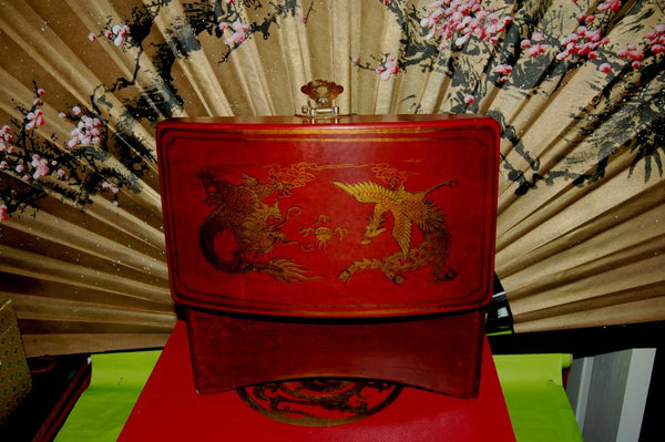 Large Leather Bound Treasure Box