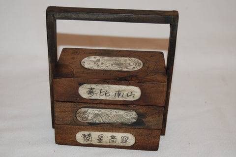 Wood Bone Jewelry Box