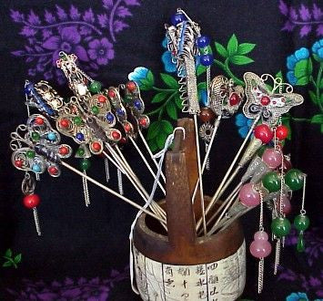 Beautiful and Unique Silver Plated Chinese Hairpins