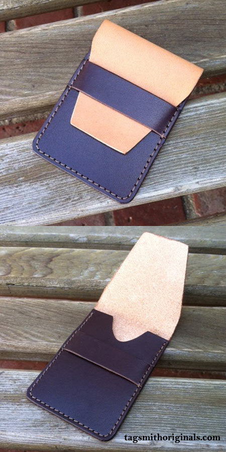 Cool Wallet Two-Tone Leather with Flap