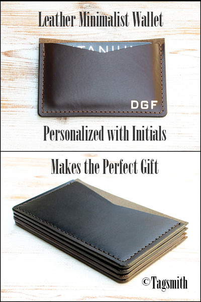 Minimalist Wallet Personalized with Initials