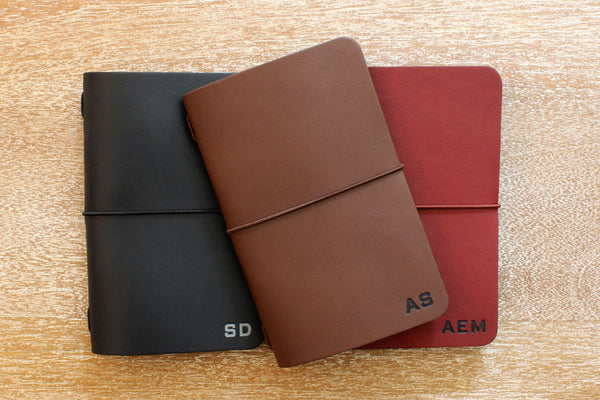 Tagsmith Personalized Leather Notebook Covers
