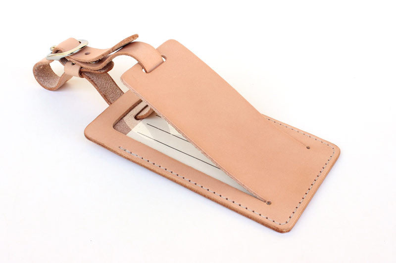 5a88e32f10b8 Leather Luggage Tag with Privacy Flap