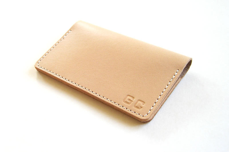 Leather business card holders tagsmith handmade for Monogrammed leather business card holder