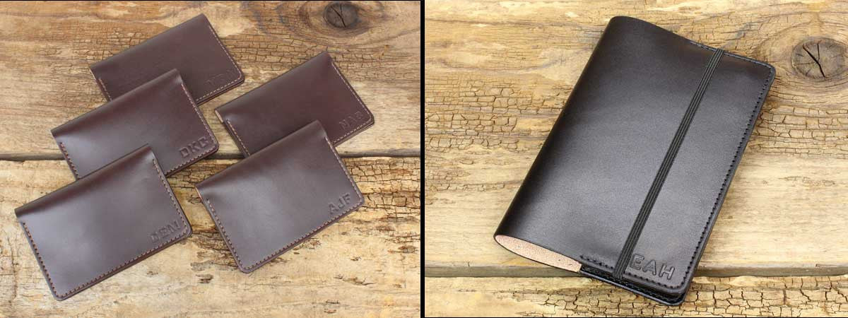 Handmade Leather Wallets and Refillable Journals