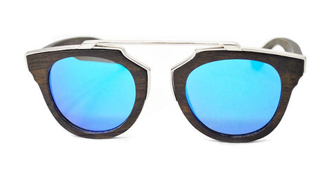 Mirrored Retro Wooden Sunglasses