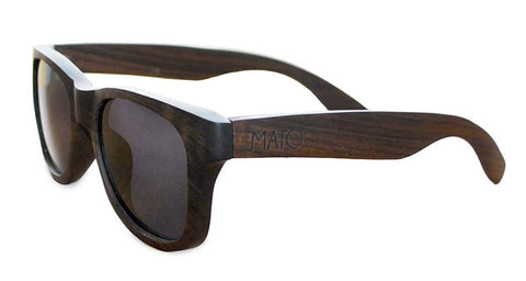 Polarized Black Wooden Sunglasses