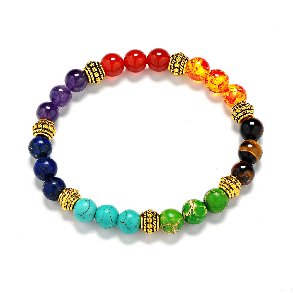Seven Chakra Healing Stone Bracelet - Buy One Get One FREE! (Offer Ends September 13th)