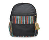Mato Canvas Backpack Boho Bohemian Tribal Aztec Pattern Black Laptop Bag Daypack