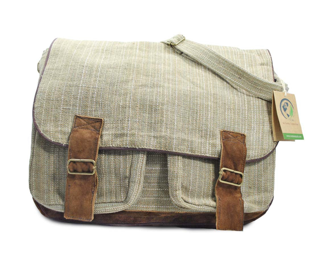 Mato Hemp Crossbody Satchel Laptop Shoulder...