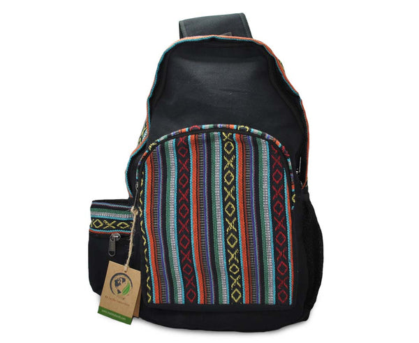Mato Canvas Boho Sling Bag Backpack Bohemian Tribal Aztec