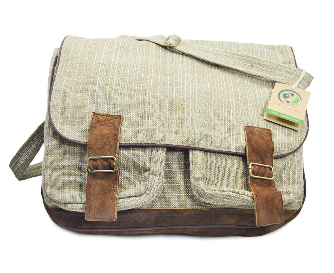 e04b15565b9c Mato Allo Crossbody Satchel Laptop Shoulder Messenger Bag Suede Buckle  Unisex