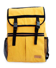 Load image into Gallery viewer, Tori Canvas Backpack Rucksack Mustard Color Urban Minimalist Design